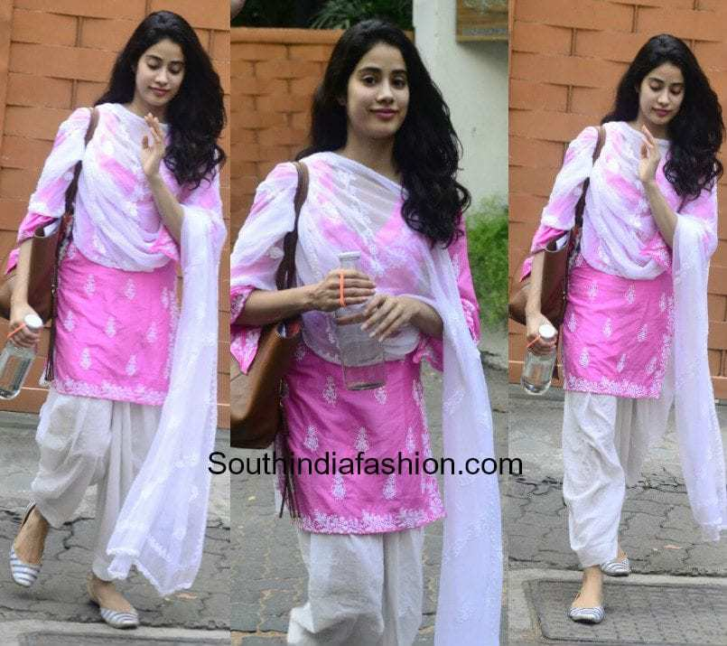 Jhanvi Kapoor in a simple salwar suit