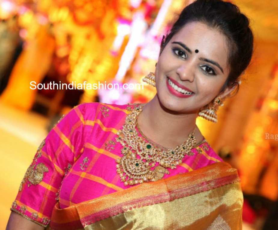 ACTRESS PATTU SAREE BLOUSE DESIGN