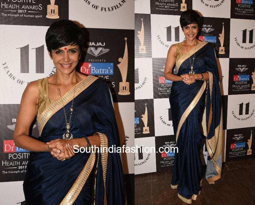 Mandira Bedi's saree look at Dr. Batra's Positive Health Awards 2017