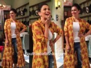 Maria Goretti in Label Anoli Shah for her food show