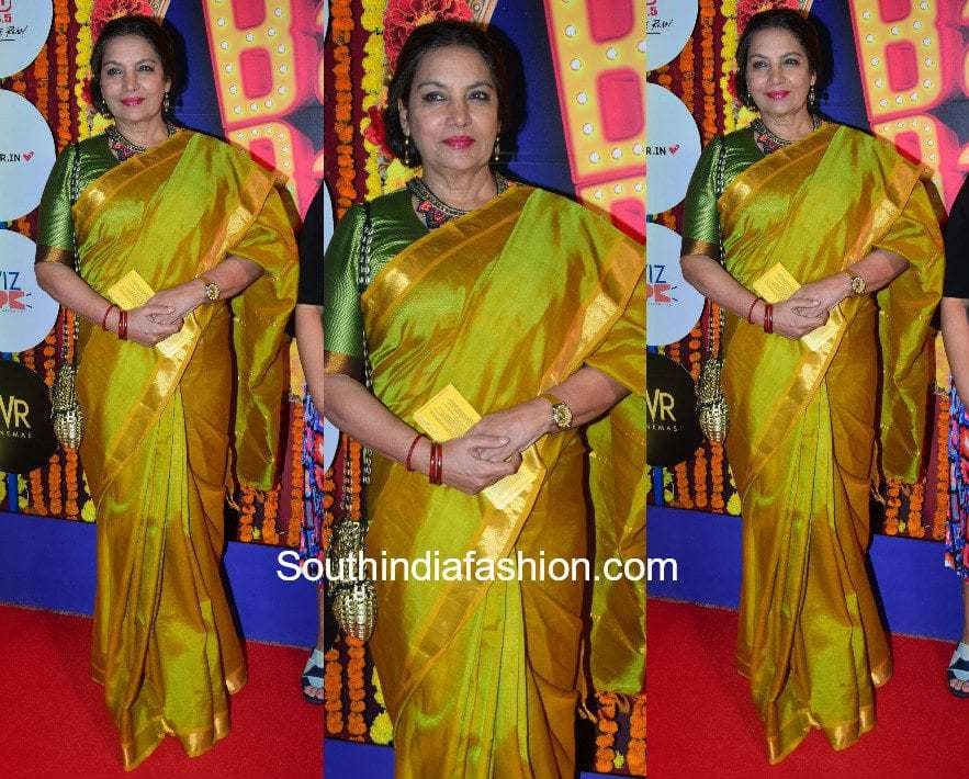 Shabana Azmi in a saree at Balle Balle Musical Red Carpet event