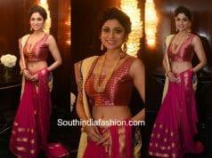 Shamita Shetty in Roopa Vohra for a fashion event