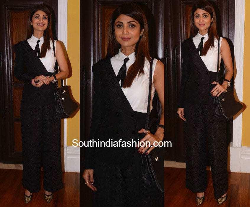 Shilpa Shetty in Ashish Soni suit for a FICCI Event