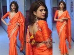 Shraddha Das's saree look
