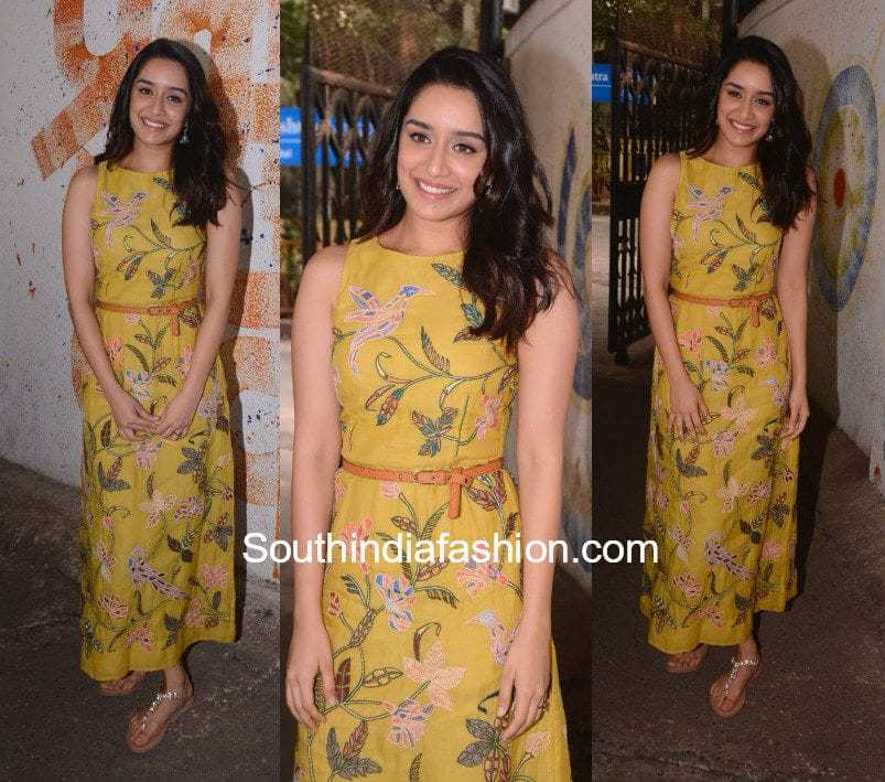 Shraddha Kapoor in a maxi dress at a muncipal school for an event