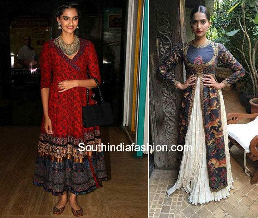 Sonam Kapoor in kalamkrai outfits