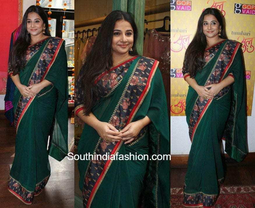 Vidya Balan in a saree at Gopi Vaid Store