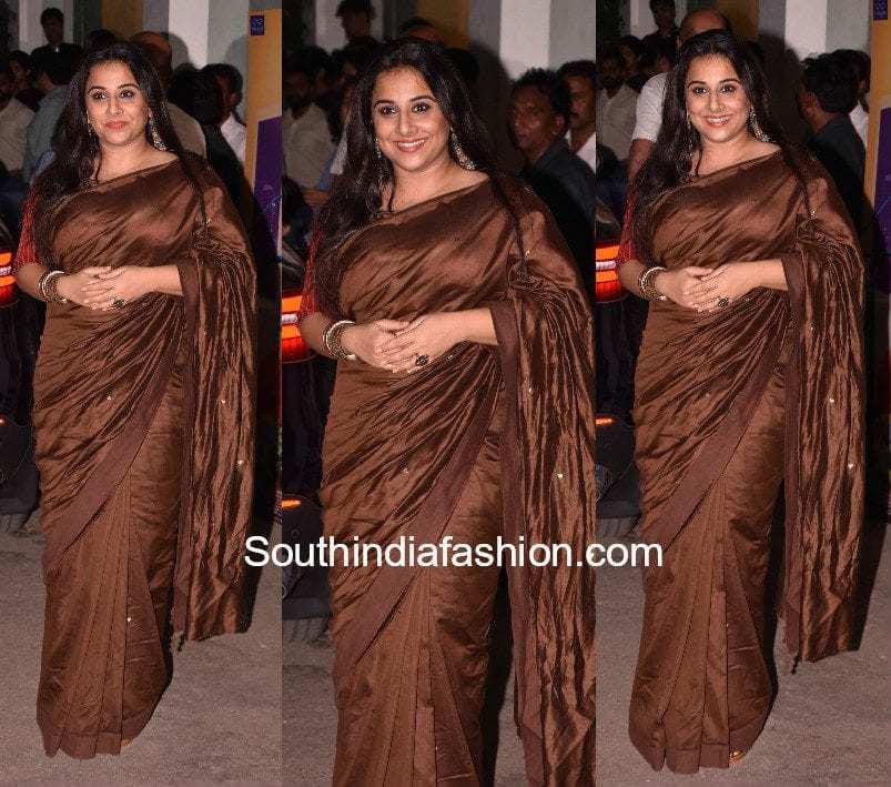 Vidya Balan's saree look for Tumhari Sulu screening