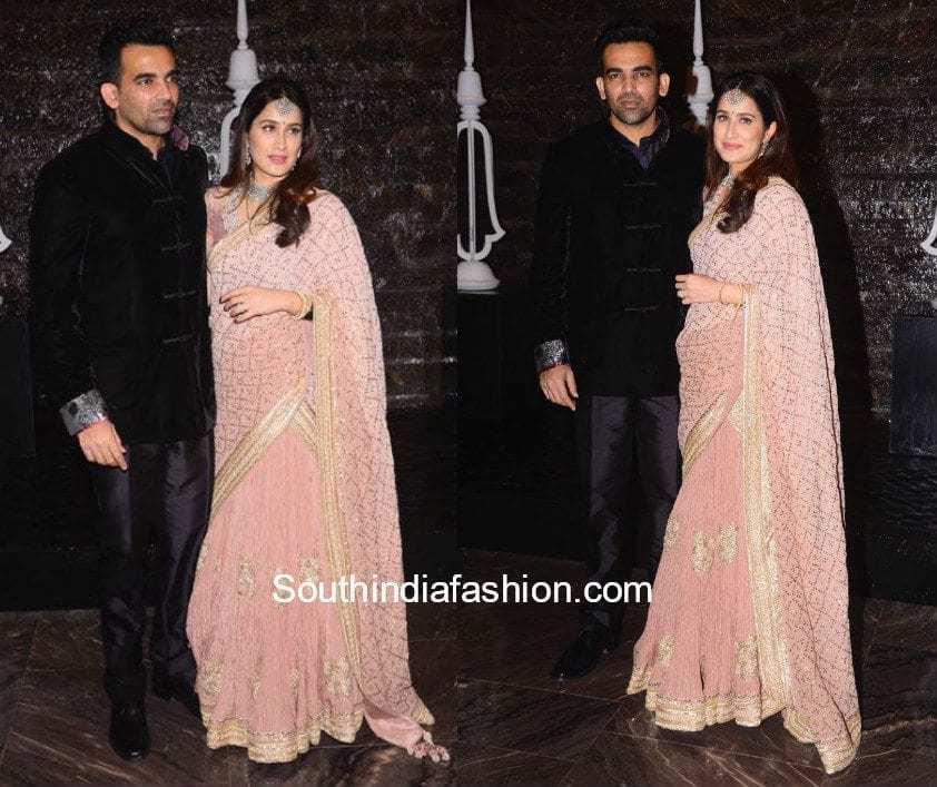 Zaheer Khan and Sagarika Ghatge at their Post Wedding Party