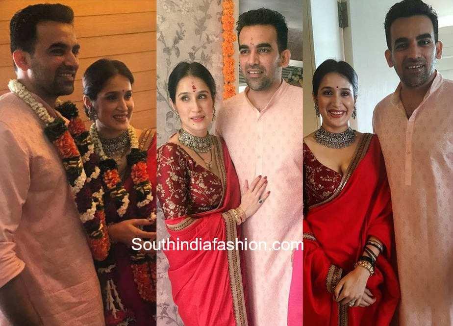 Zaheer Khan and Sagarika Ghatge at their Wedding