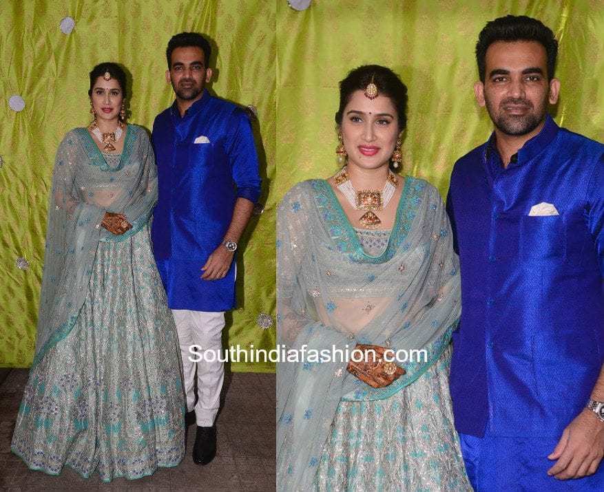 Zaheer Khan and Sagarika Ghatge at their mehendi