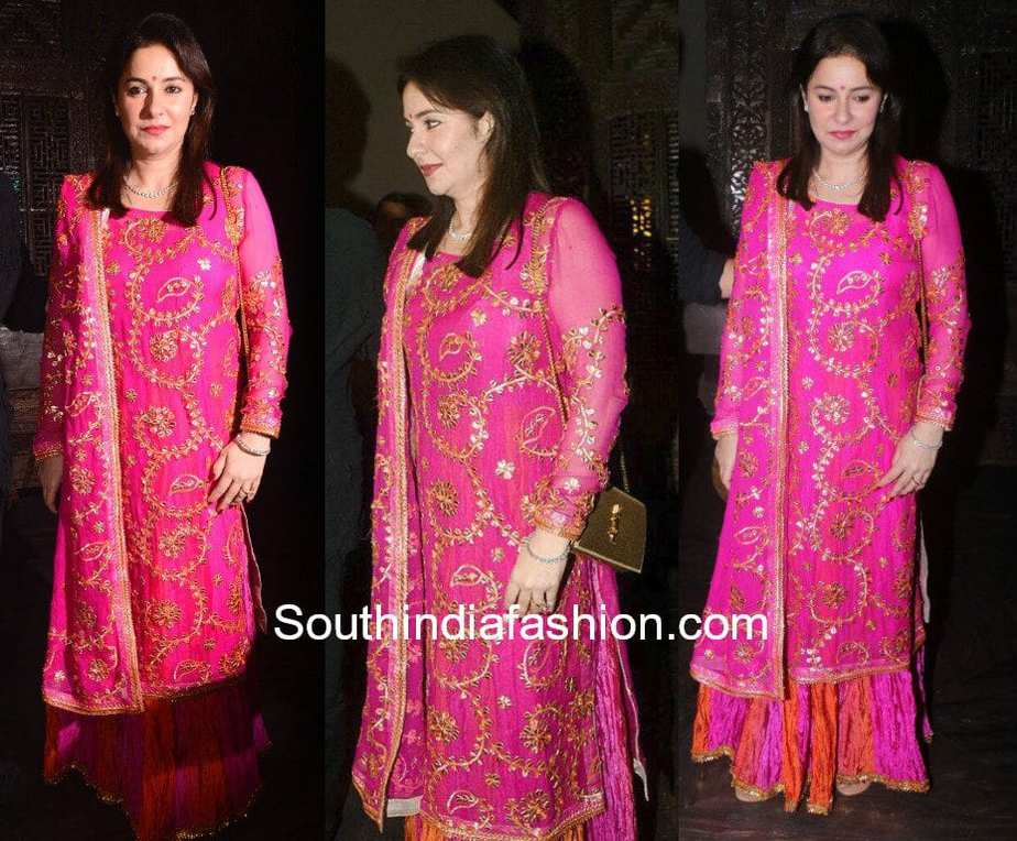 anjali tendulkar palazzo suit zaheer khan sagarika wedding