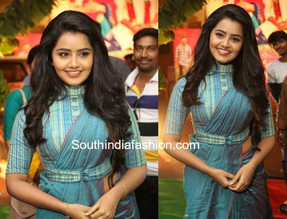 anupama parameswaran sarees and blouse designs