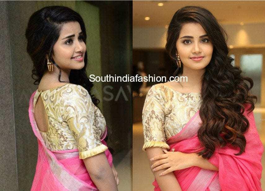 anupama parameswaran brocade blouse
