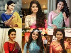 anupama parameswaran sarees and blouse designs