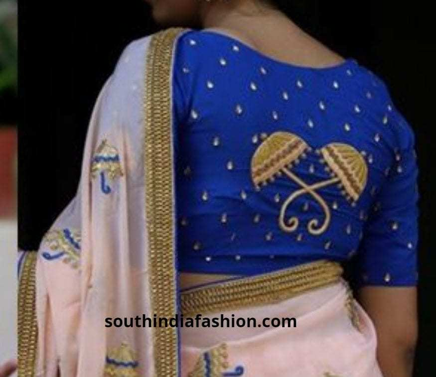 Umbrella back embroidered blouses