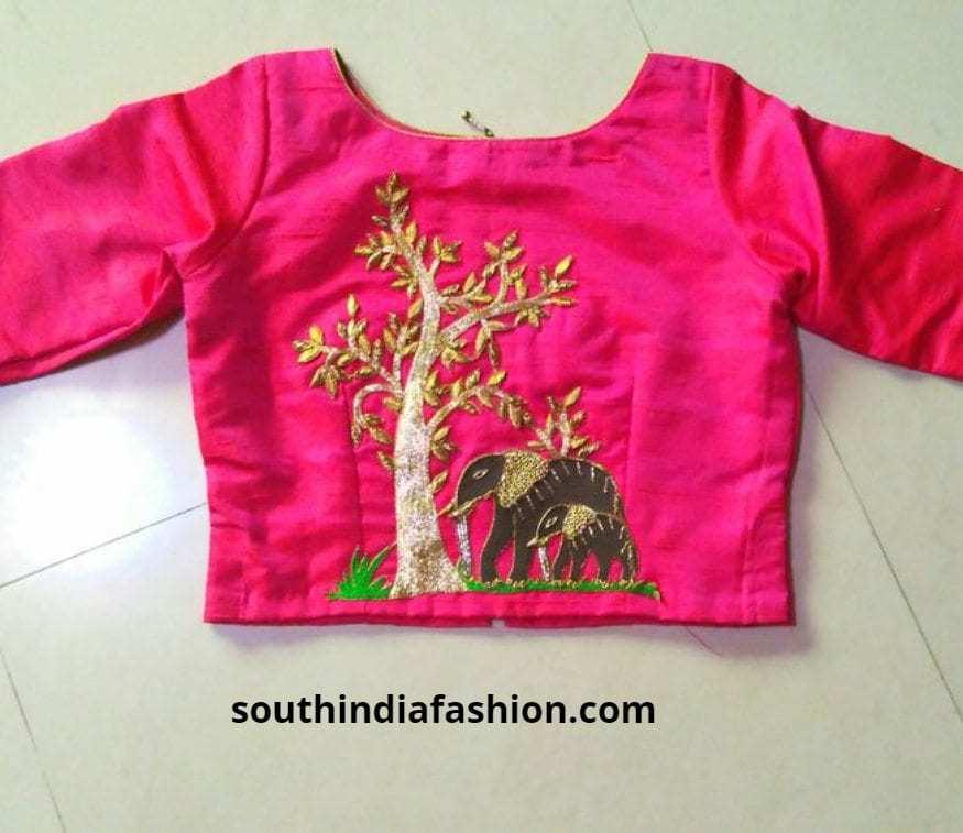 bridal back embroidered blouses