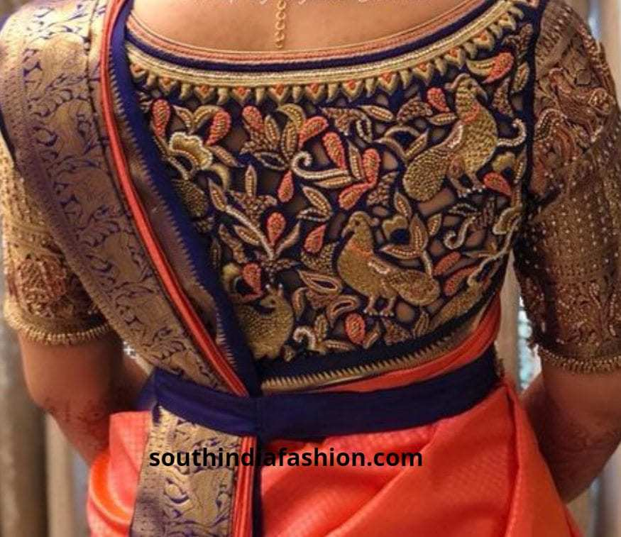 bird back embroidered blouses