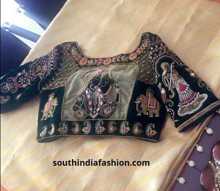 Barat back embroidered blouses