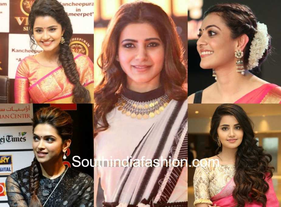 celebrity hairstyles with indian sarees