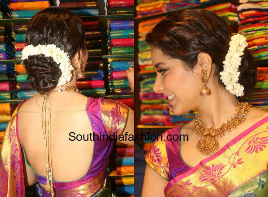 best hairstyles with indian sarees