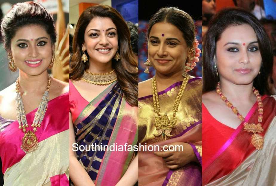 best jewellery with silk sarees