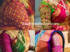 maggam work blouse designs for pattu sarees