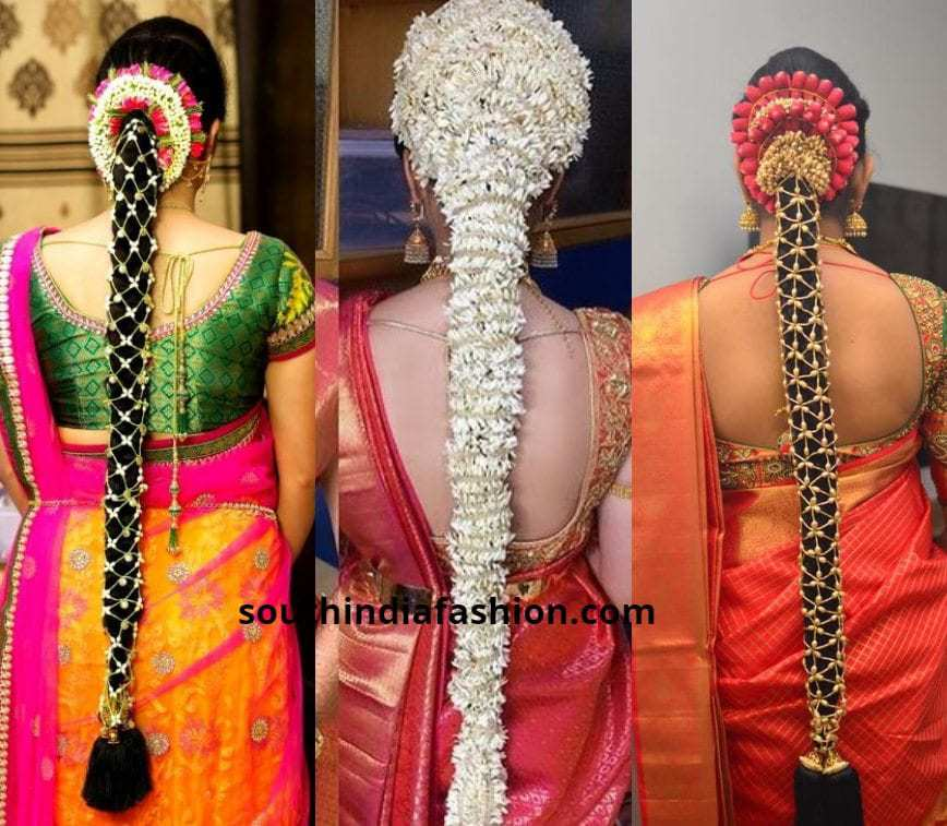 Wedding Hairstyle With Jasmine Flower: 40 Trending South Indian Bridal Hairstyles
