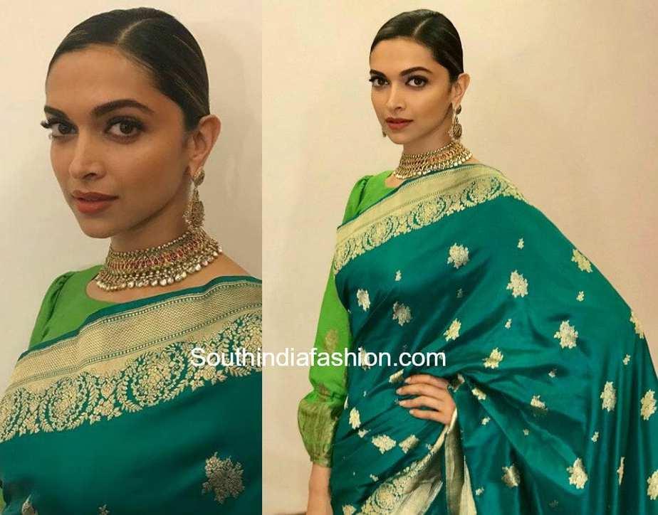 Deepika Padukone in Sailesh Singhania - South India Fashion