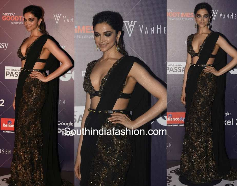 deepika-padukone-hot-sabyasachi-saree-gq-fashion-nights-2017