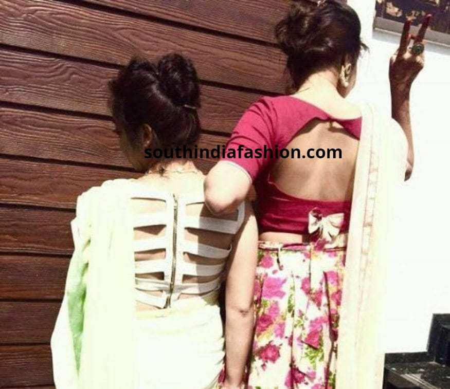 fancy blouses for fancy sarees