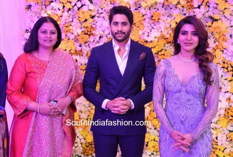 jayasudha at samantha chaitanya wedding reception
