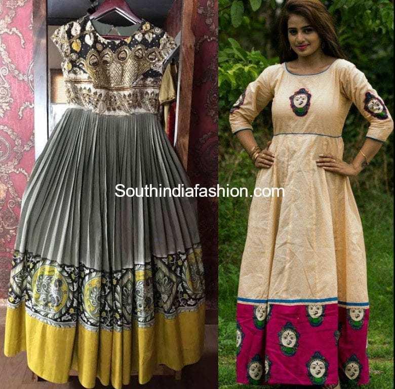 kalamkari gown designs