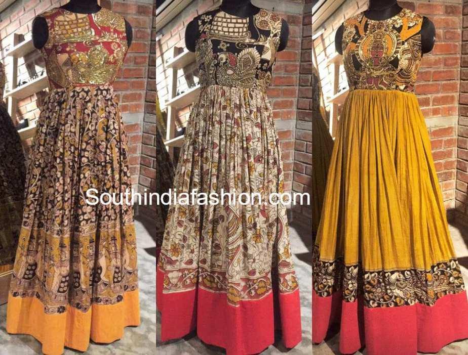 kalamkari long gowns and dresses models