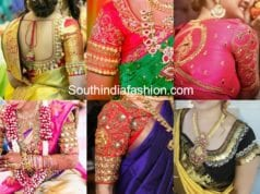 kasu embroidered blouse designs for pattu sarees