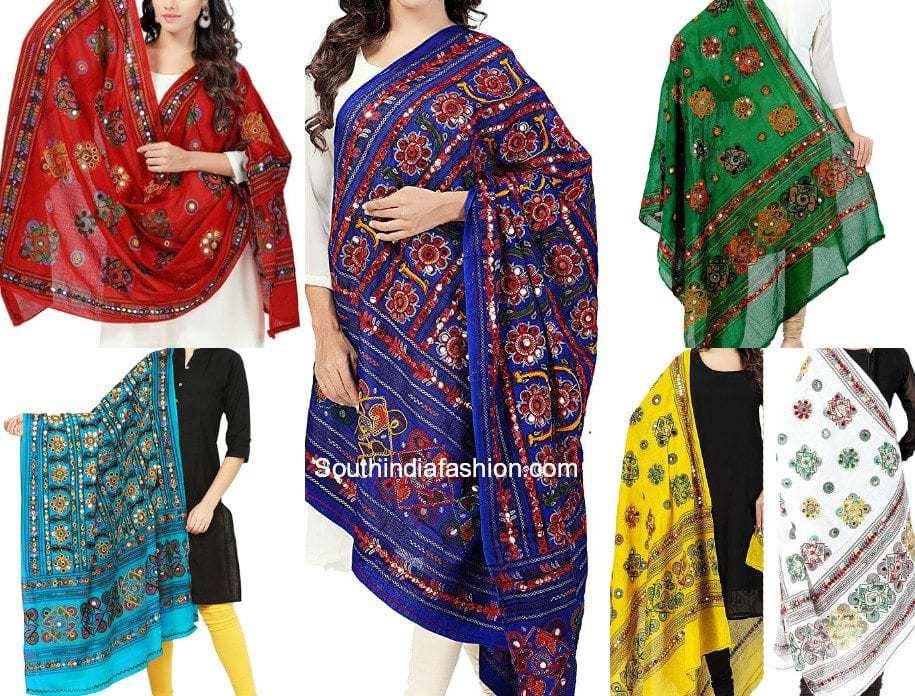 kutch work dupattas online shopping