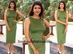 lakshmi manchu green dress ficci event