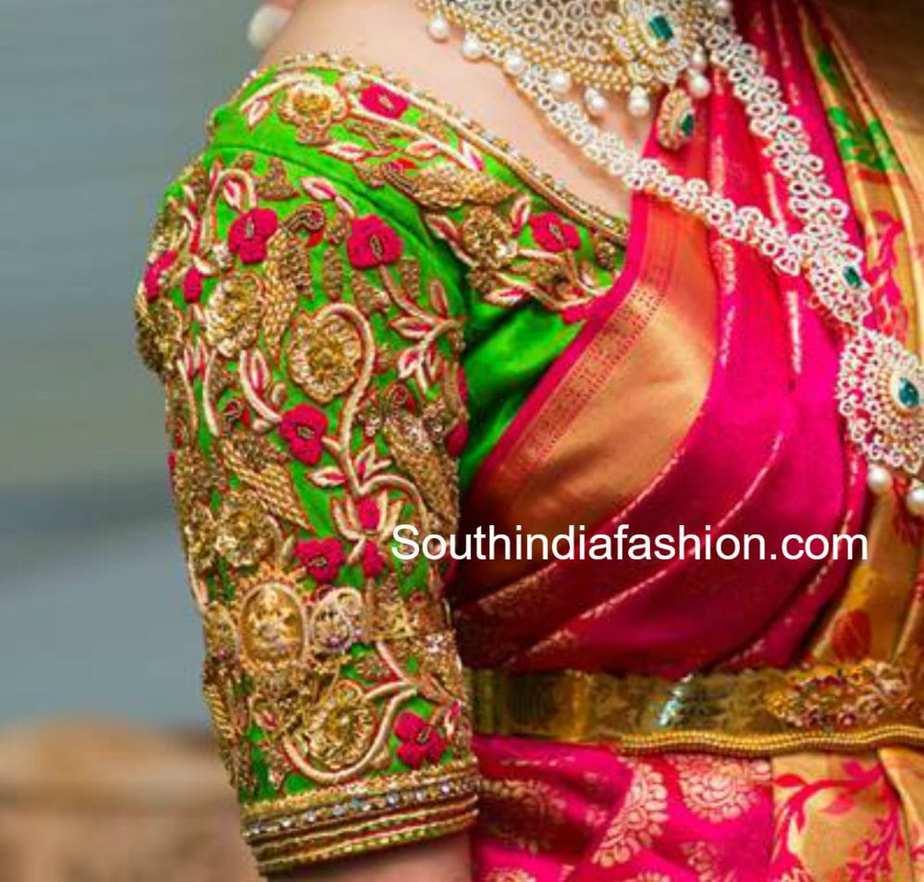 Latest Maggam Work Blouse Designs For Pattu Sarees South India Fashion