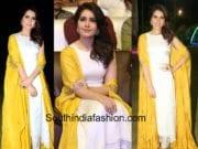 raashi khanna yellow white dress at balakrishnudu audio function
