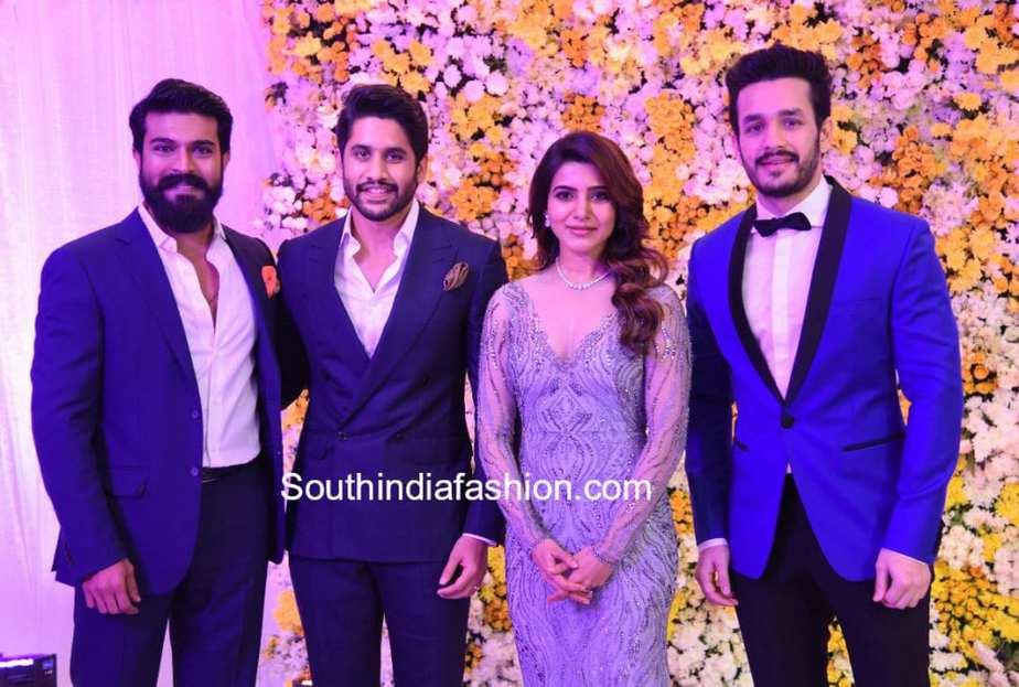 Ram Charan at samantha chaitanya wedding reception