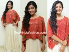 rashmika mandanna chalo teaser launch dress