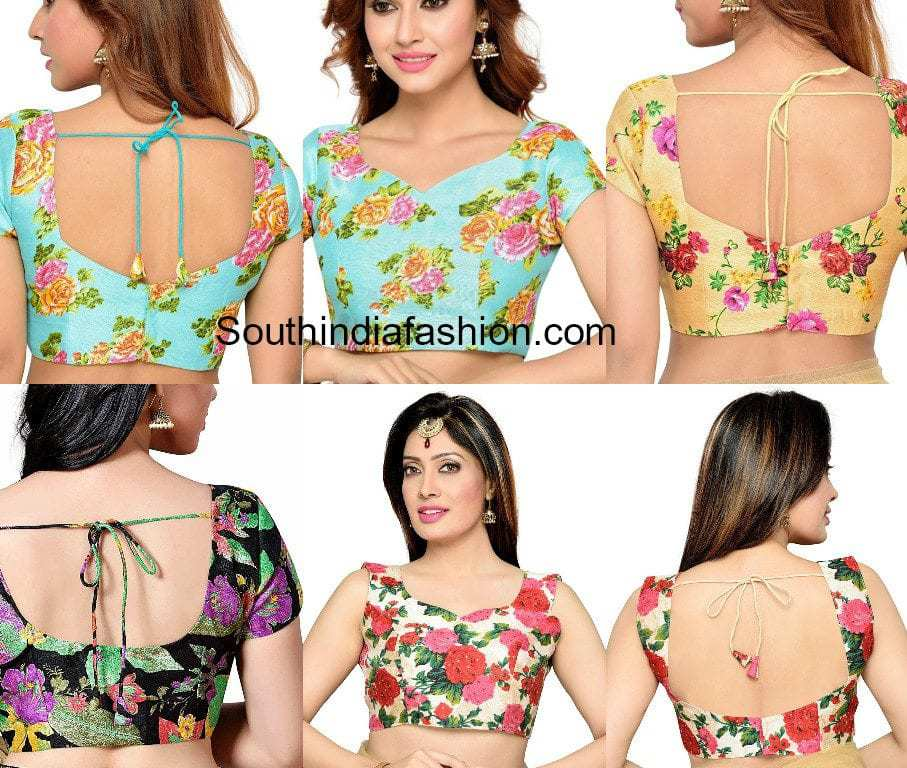 readymade floral print blouse designs
