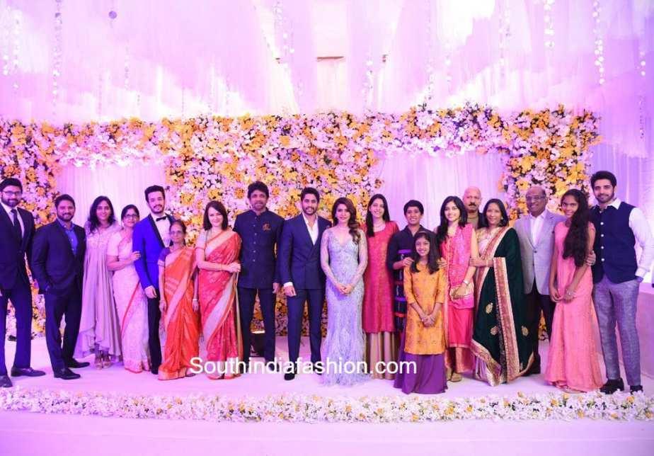 naga chaitanya samantha wedding reception family photos
