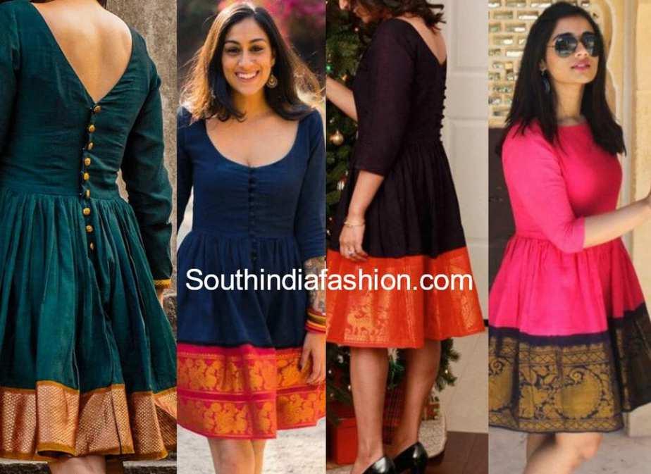 saree dresses with madurai cotton sarees