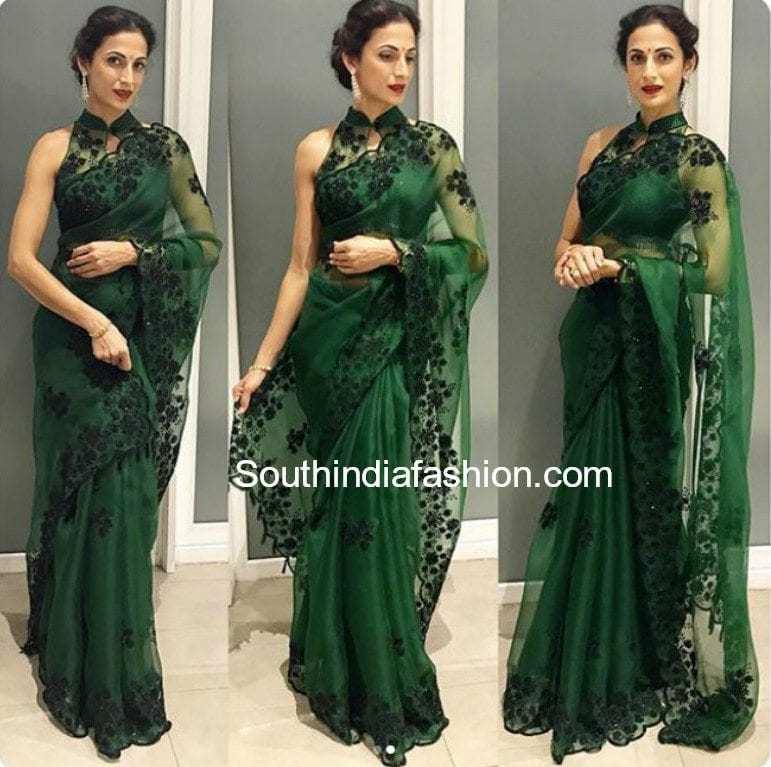 shilpa reddy green saree at samantha naga chaitanya wedding reception