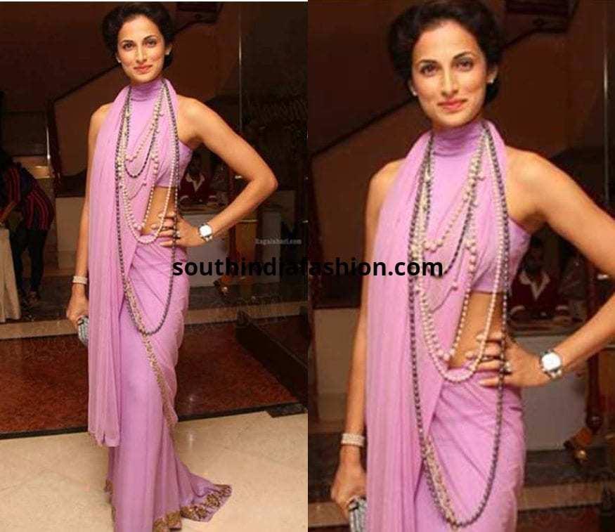 Shilpa Reddy in a lilac saree