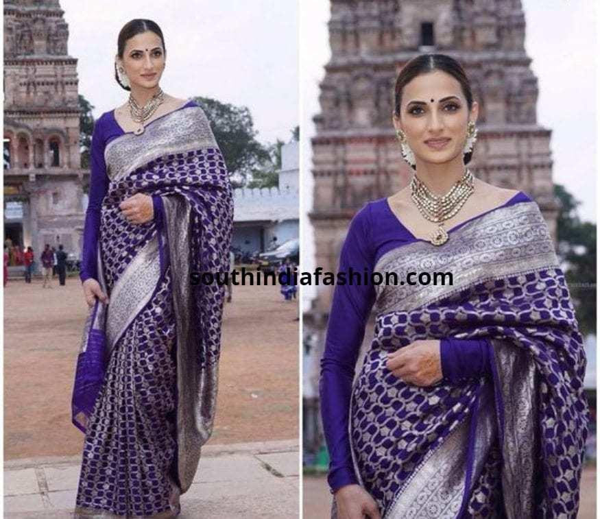 Shilpa Reddy In Banarasi Saree