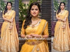shraddha srinath in sailesh singhania yellow lehenga
