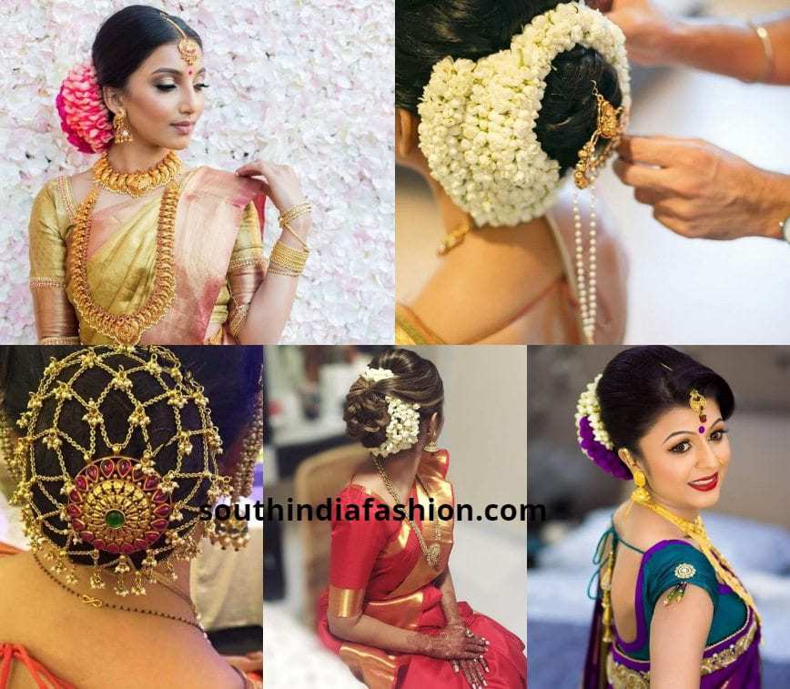 South Indian Bridal Updo