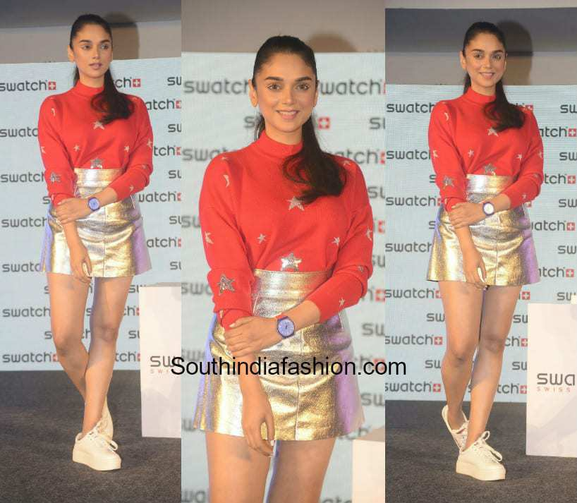 Aditi Rao Hydari in Only and Madison at Swatch watch launch